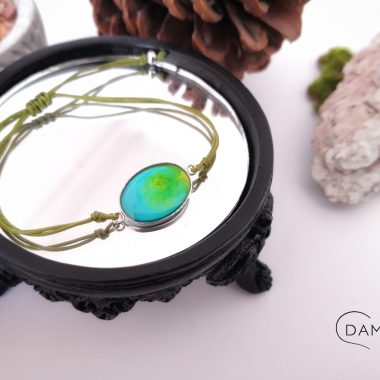 biżuteria bransoletka niebiesko żółta