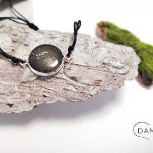 biżuteria bransoletka czarno srebrna