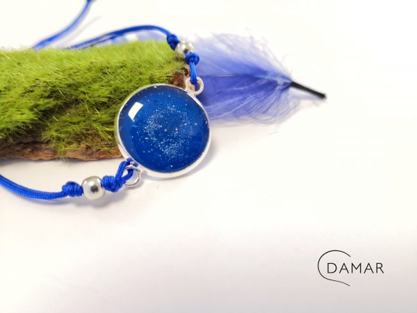biżuteria bransoletka niebieska