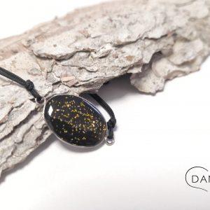 biżuteria bransoletka ze złotym brokatem