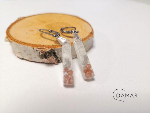 biżuteria kolczyki z kamyczkami