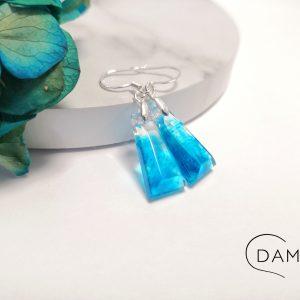 biżuteria kolczyki niebieski dymek