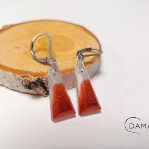 biżuteria kolczyki rude