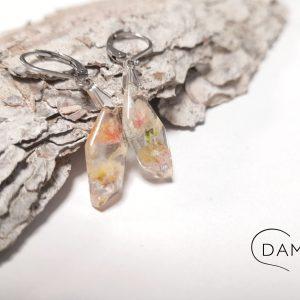 biżuteria kolczyki z kwiatuszkami