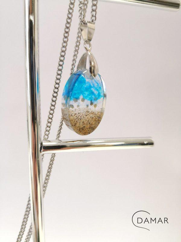 biżuteria naszyjnik plaża w owalu