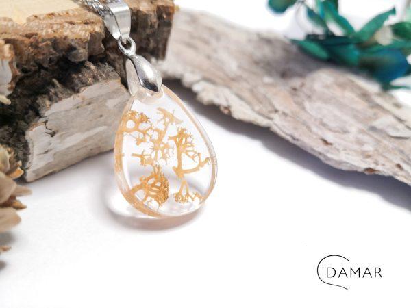 biżuteria naszyjnik beżowy chrobatek w owalu