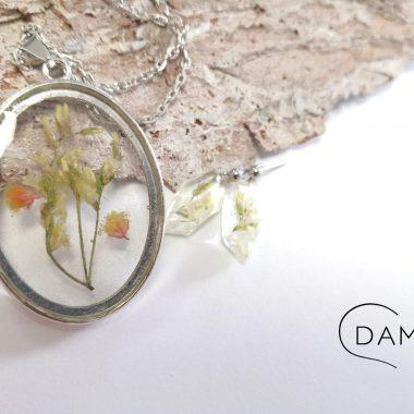 biżuteria naszyjnik bukiet kwiatów