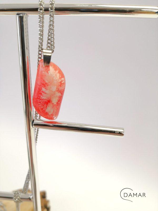 biżuteria naszyjnik czerwony wybuch
