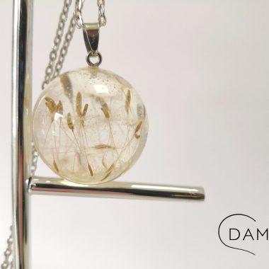 biżuteria naszyjnik dmuchawce w kuli