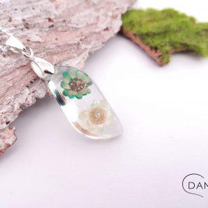 biżuteria naszyjnik dwa kwiatuszki