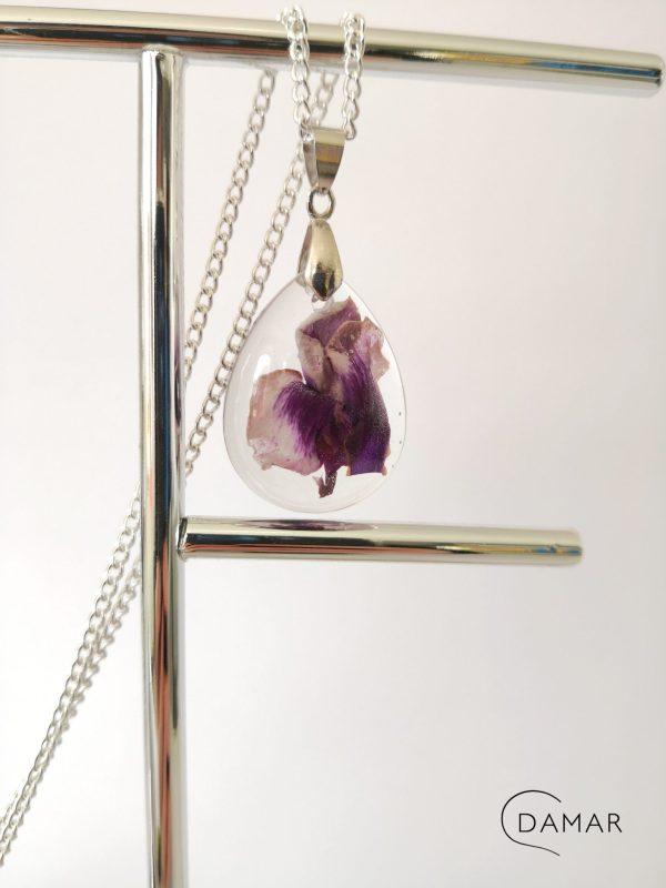 biżuteria naszyjnik fiołek