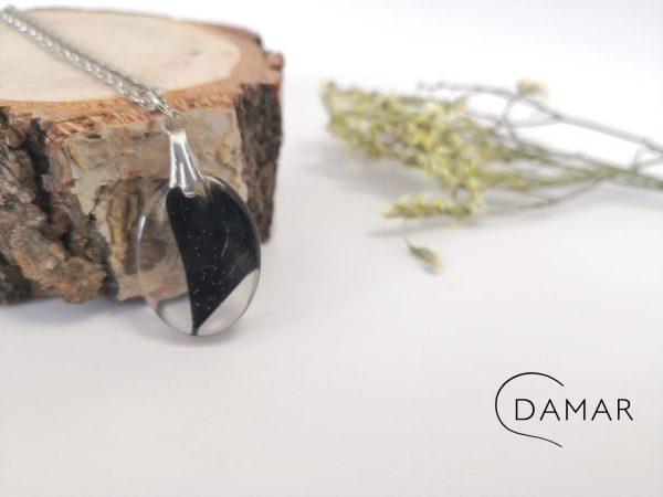 biżuteria naszyjnik gęsie piórko