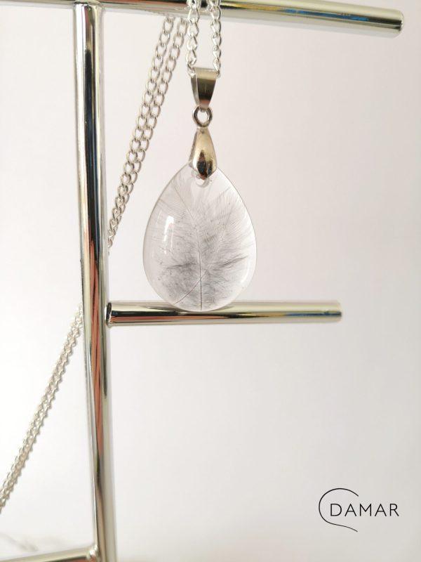 biżuteria naszyjnik piórka