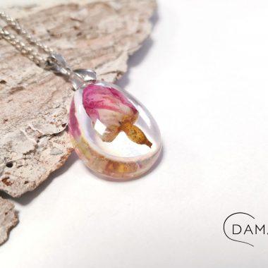 biżuteria naszyjnik różowa róża