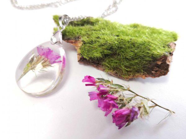 biżuteria naszyjnik różowy zatrwian