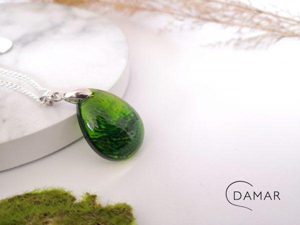 biżuteria naszyjnik w zielone centki