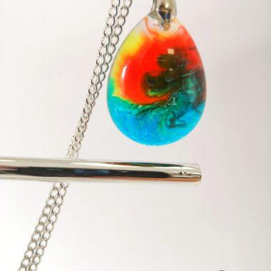 biżuteria naszyjnik wielokolorowy