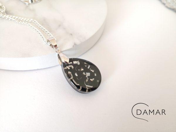 biżuteria naszyjnik z opiłkami
