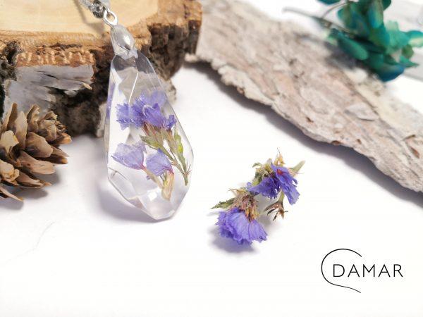 biżuteria naszyjnik zatrwian w bryłce kryształu