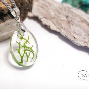 biżuteria naszyjnik zielony chrob