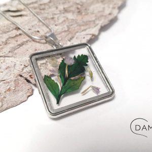 biżuteria naszyjnik zielony liść