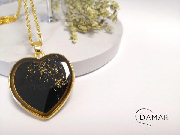 biżuteria naszyjnik złote serce