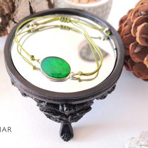 biżuteria bransoletka zielona